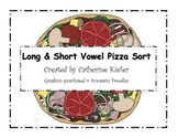 Long and Short Vowel Pizza Sort Activity