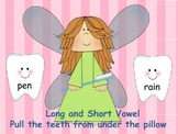 Long and Short Vowel -Pull the teeth from under the pillow game