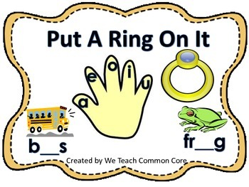 Long and Short Vowel Put a Ring on It Literacy Station Act