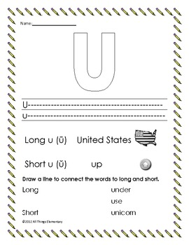 Long and Short Vowel Review aeiou
