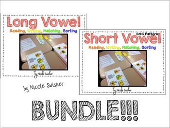 Long and Short Vowel Sets Bundle!