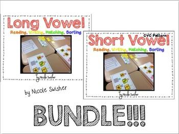 Long and Short Vowel Sets Bundle!