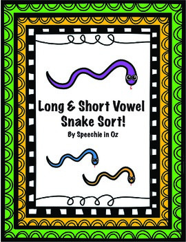 Long and Short Vowel Snake Sort!