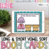 Long and Short Vowel Sort BOOM Cards | Digital Task Cards