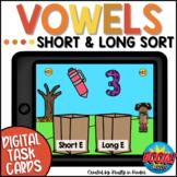 Long and Short Vowel Sort Boom Cards