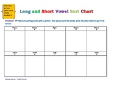 Long and Short Vowel Sort Chart
