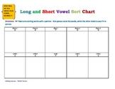 Long and Short Vowel Sort Chart