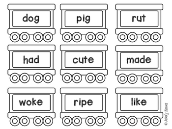 Long and Short Vowel Sort - Great for Polar Express!