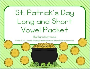 Long and Short Vowel Sort: St. Patrick's Day Theme