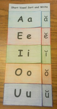 Long and Short Vowel Sort and Write Bundle