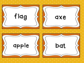 Long and Short Vowel Sort with sorting mats, picture, and word cards