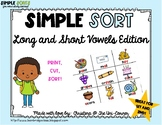 Long and Short Vowel Sorting Cards