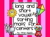 Long and Short Vowel Sorting Mats for Centers