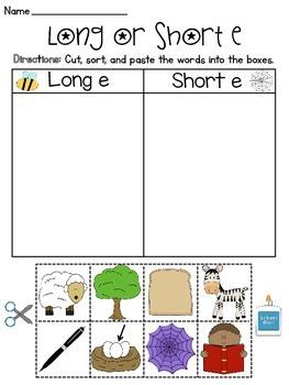 Long and Short Vowel Discrimination Worksheets MEGA Pack