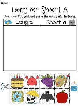Long and Short Vowel Discrimination Sort Worksheets MEGA Pack by ...