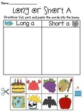 Long and Short Vowel Discrimination Worksheets MEGA Pack