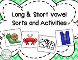 Long and Short Vowel Sorts and Activities - Combo Pack!