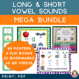 Long and Short Vowel Sound Mega Bundle - QR Codes to Vowel
