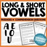 Long and Short Vowel Sounds - A, E, I, O, U Reading Passag