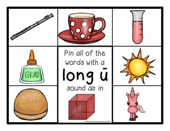 Long and Short Vowel Sounds - Self-Checking Phonics Centers
