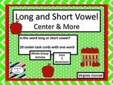 Long and Short Vowel Sounds--Apple Theme