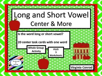 Long and Short Vowel Sounds--Apple Theme