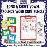 Long and Short Vowel Sounds - File Folder Word Sort Bundle