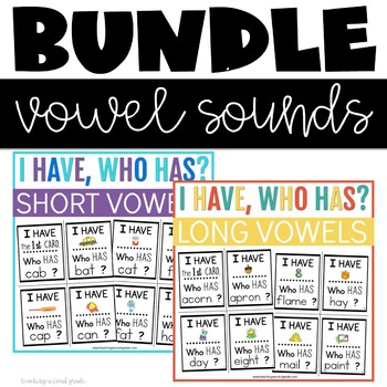 Long and Short Vowel Sounds I Have Who Has