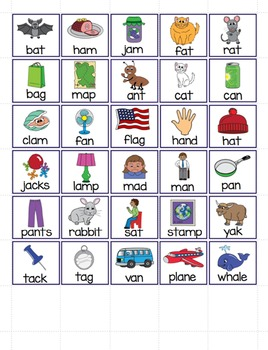 "Long and Short Vowel Sounds - Vowel ""a"" File Folder Word Sort"