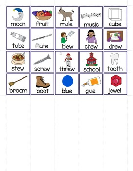 "Long and Short Vowel Sounds - Vowel ""u"" File Folder Word Sort"