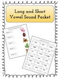 Long and Short Vowel Worksheet Packet