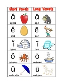 Long and Short Vowel Sounds Poster