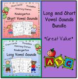 Kindergarten Long and Short Vowel Sounds Bundle    *Great Value*