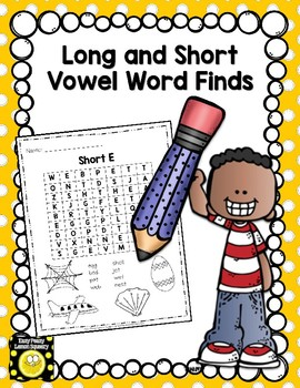 Long and Short Vowel Sounds Word Find