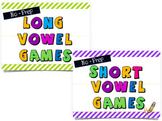 Long and Short Vowel Spinner Game Bundle-- No Prep!