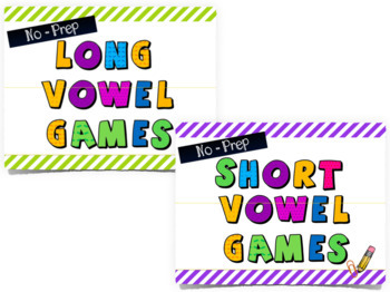 Long and Short Vowel Spinner Game Bundle-- No Prep!