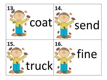 Long and Short Vowel Task Cards--12 sets of 20 cards each