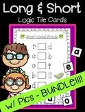 Long and Short Vowels Logic Tile Card BUNDLE! w Pictures