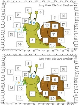 Long and Short Vowels Logic Tile Card BUNDLE! w Pictures