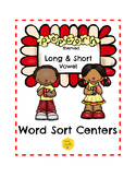 Long and Short Vowel Word Sort Centers Bundle