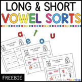 FREE Long and Short Vowel Sorts | Cut and Paste Worksheets