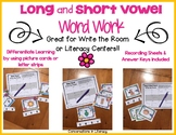 Long and Short Vowel Word Work