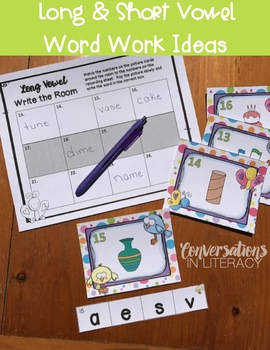 Long and Short Vowels Activities