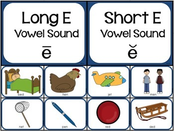 Long and Short Vowel Word and Picture Sorts BUNDLE