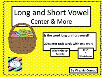 Long and Short Vowel Words--activity, worksheets, task car