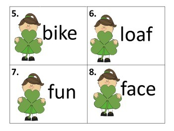 Long and Short Vowel Words-center, activity, and more-St. Patrick's Day Theme