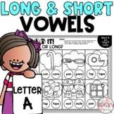 Long and Short Vowel Worksheets Letter A