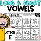 Long and Short Vowel Worksheets Letter E