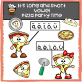 Long and Short Vowel Worksheets with Pizza Theme