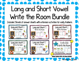Long and Short Vowel Write the Room Bundle- Includes Sylla